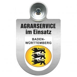 Einsatzschild für Windschutzscheibe incl. Saugnapf - Agrarservice im Einsatz - 309739-1 Region Baden-Württemberg