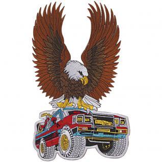 Rückenaufnäher - Truck mit Adler - 08080 - Gr. ca. 33x 20cm - Patches Stick Applikation