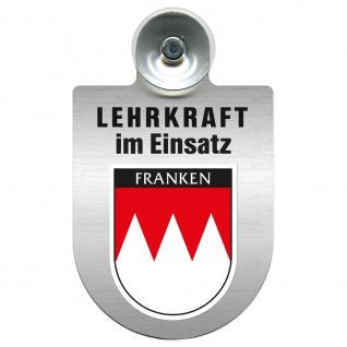 Einsatzschild Windschutzscheibe incl. Saugnapf - Lehrkraft im Einsatz - 309364 Region Franken