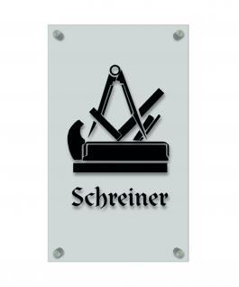 Zunftschild Handwerkerschild - Schreiner - beschriftet auf edler Acryl-Kunststoff-Platte ? 309405 schwarz