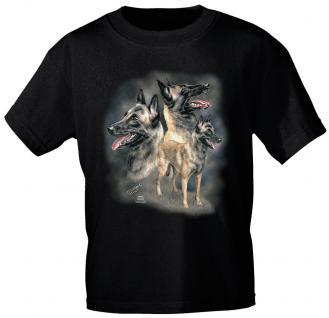 KINDER T-Shirt mit Print - Malinoir - 08150 schwarz - aus der ©Kollektion Bötzel - Gr. 122/128