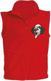(11536) Karneval Fleece-Weste mit Brust- und Rückenstick, Gr. S- XXL in 4 Farben