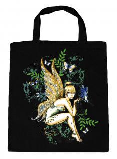 (U10972)Umweltfreundliche Baumwoll - Tasche , ca. 28 x 43 cm mit Aufdruck in 7 Farben schwarz