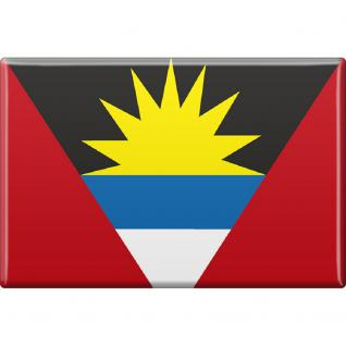 Küchenmagnet - Länderflagge Antigua und Barbuda - Gr.ca. 8x5, 5 cm - 38007 - Magnet