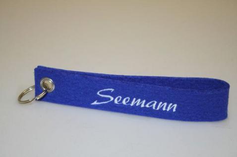 Filz-Schlüsselanhänger mit Stick - SEEMANN - Gr. ca. 17x3cm - 14049 - Keyholder
