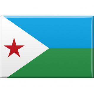Küchenmagnet - Länderflagge Dschibuti - Gr.ca. 8x5, 5 cm - 38031 - Magnet