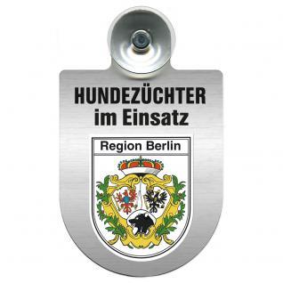 Einsatzschild Windschutzscheibe incl. Saugnapf - Hundezüchter im Einsatz - 309378-14 - Region Berlin