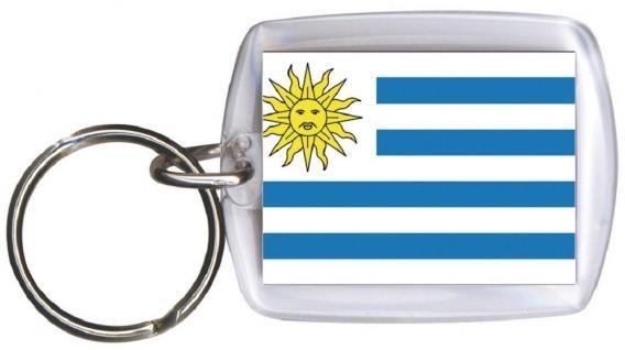 Schlüsselanhänger Anhänger - URUGUAY - Gr. ca. 4x5cm - 81179 - Keyholder WM Länder