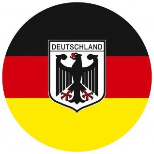 Magnetbutton - Deutschland Flagge Wappen - Gr. ca. 5, 7 cm - 16222 - Küchenmagnet