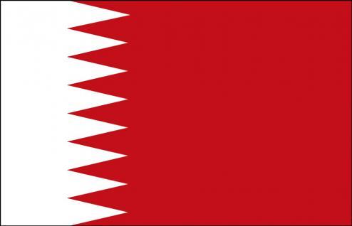 Autoflagge - Bahrain - Gr. ca. 40x30cm - 78020 - Länderfahne mit Klemmstab, Autoländerfahne