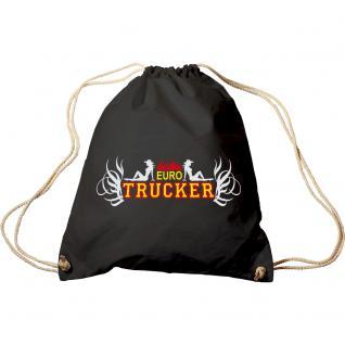 Trend-Bag mit Aufdruck - Euro Trucker - 65120 - Turnbeutel Sporttasche Rucksack