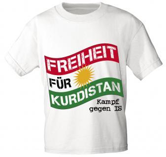 T-shirt Unisex Mit Aufdruck - Freiheit FÜr Kurdistan - Kampf Gegen Is - 09079 - Gr. S - Xxl - Vorschau 1