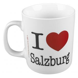 Keramiktasse mit Print I Love Salzburg 57249 weiss