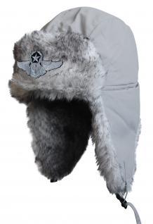 Chapka Fliegermütze Pilotenmütze Fellmütze in grau mit 28 verschiedenen Emblemen 60015 Snowboarder 2 - Vorschau 2