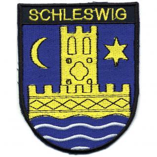 AUFNÄHER - Wappen - SCHLESWIG - 01757- Gr. ca. 9, 5 x 7, 5 cm - Patches Stick Applikation