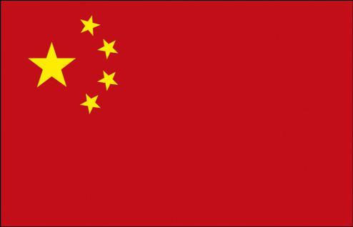 Schwenkfahne - China - Gr. ca. 40x30cm - 77037 - Länderflagge Stockländerfahne
