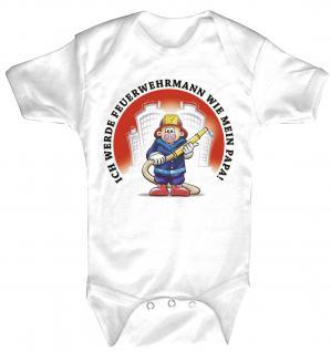 Babystrampler mit Print - Ich werde Feuerwehrmann - 08313 - 6-12 Monate