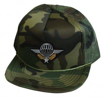 Militarycap Camouflage - Cap mit Stick - Fallschirmjäger Springer Heer - 69205-2 grün - Baumwollcap Baseballcap Hut Cappy Schirmmütze