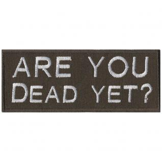 Aufnäher - Are you Dead yet - 01862 - Gr. ca. 9, 5 x 3, 5 cm - Patches Stick Applikation