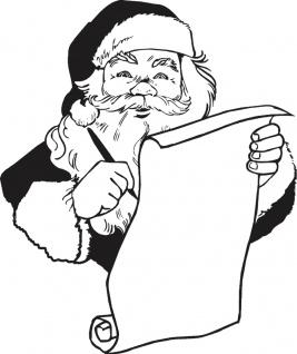 Wandtattoo Dekorfolie Weihnachtsmann WD0809 - schwarz / 120cm