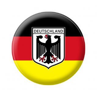 (A16222) Metall-Magnet Button als Länderflagge Deutschland Magnet