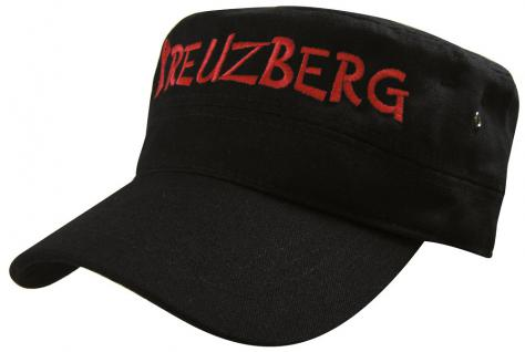 Military - Cap mit Kreuzberg - Stickerei - Kreuzberg - 60521 schwarz - Baumwollcap Baseballcap Hut Cappy Schirmmütze