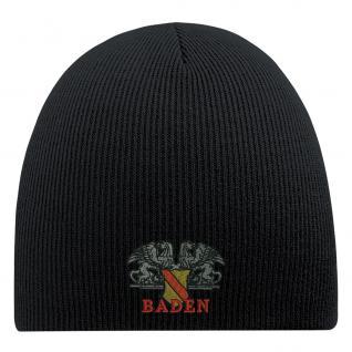 BEANIE Mütze mit Einstickung - BADEN - 54807 - Wollmütze Wintermütze Strickmütze