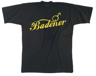 (10448-1) MarkenT-Shirt unisex mit Aufdruck ? BADENER ? Gr. S-XXL S