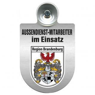 Einsatzschild Windschutzscheibe incl. Saugnapf - Außendienstmitarbeiter im Einsatz - 309366-4 - Region Brandenburg