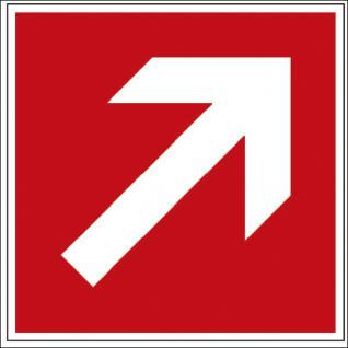 Hinweis- Alu- Schild - Brandschutzkennzeichen - Richtungsvorgabe - BGV A8, DIN 4844 und Arbeitsstättenverordnung 15 x 15 cm - K129/81