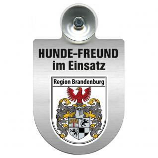 Einsatzschild Windschutzscheibe incl. Saugnapf - Hundefreund im Einsatz - 309383 Region Brandenburg