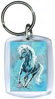 Schlüsselanhänger - Haflinger-TWILIGHT - Gr. ca. 6x4cm - 13171 - Keyholder mit Pferdemotiv