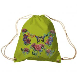 Trend-Bag Turnbeutel Sporttasche Rucksack mit Print - Schmetterlinge - TB65323