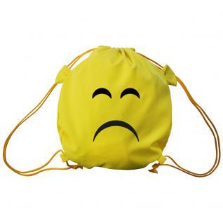 Trend-Bag mit Aufdruck - Smilie sad- 65203 - Turnbeutel Sporttasche Rucksack