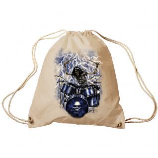 Trend-Bag Turnbeutel Sporttasche Rucksack mit Print - Ghost Drummer - TB65307