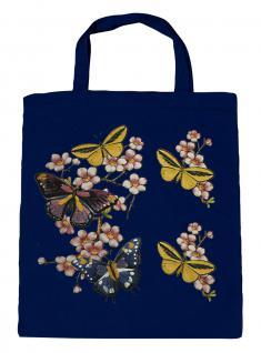 (06991-2)Umweltfreundliche Baumwoll - Tasche , ca. 28 x 43 cm mit Aufdruck in 7 Farben Navy
