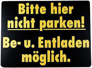 Parkschild - BE- U. ENTLADEN möglich - 308717 - Gr. 370 x 285 mm