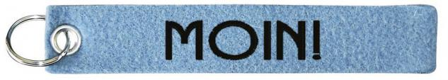 Filz-Schlüsselanhänger mit Stick - Moin - Gr. ca. 17x3cm - 14227