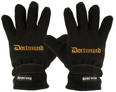 Handschuhe Fleece mit Einstickung Dortmund 56503 schwarz