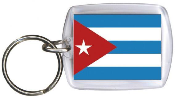 Schlüsselanhänger Anhänger - KUBA - Gr. ca. 4x5cm - 81088 - Kehyolder WM Länder