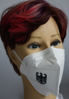 1x FFP2 Maske Deutsche Herstellung CE zertifiziert mit Aufdruck - Bundesadler