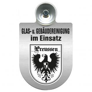Einsatzschild für Windschutzscheibe incl. Saugnapf - Glas- u. Gebäudereinigung im Einsatz - 309399-19 Region Preussen