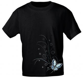 (12854) T- Shirt mit Glitzersteinen Gr. S - XXL in 17 Farben schwarz / S