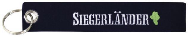 Filz-Schlüsselanhänger mit Stick Siegerländer Gr. ca. 17x3cm 14190 schwarz