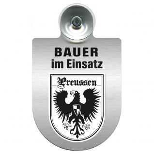 Einsatzschild Windschutzscheibe incl. Saugnapf - Bauer im Einsatz - 309736-19 Region Preussen