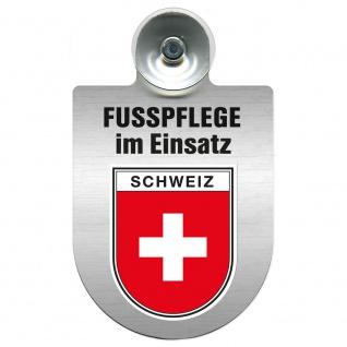 Einsatzschild Windschutzscheibe incl. Saugnapf - Fusspflege im Einsatz - 393816 - Region Schweiz