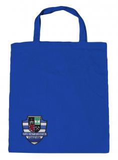 Baumwolltasche Umwelttasche mit Stickerei - Gelsenkirchen Emblem - 12398 royalblau - Baumwolltasche Shopper Ruhrpott