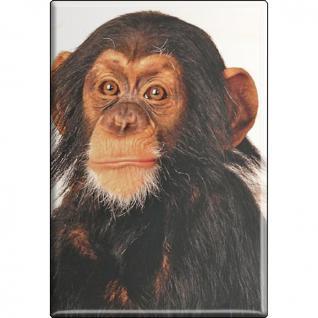 Kühlschrankmagnet - Schimpanse - Gr. ca. 8 x 5, 5 cm - 37042 - Magnet Küchenmagnet