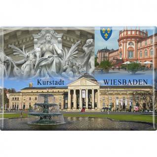 Magnet - Kurstadt Wiesbaden - Gr. ca. 8 x 5, 5 cm - 38776 - Kühlschrankmagnet Küchenmagnet