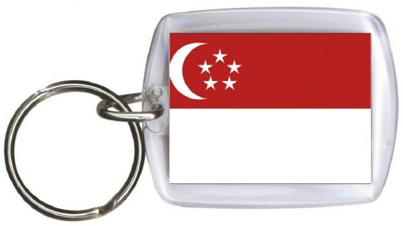 Schlüsselanhänger Anhänger - SINGAPUR - Gr. ca. 4x5cm - 81150 - Keyholder WM Länder